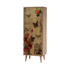 Dřevěný botník Mirto Flower