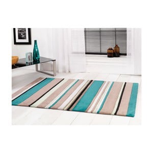 Koberec Broad Stripes Teal, 120x170 cm
