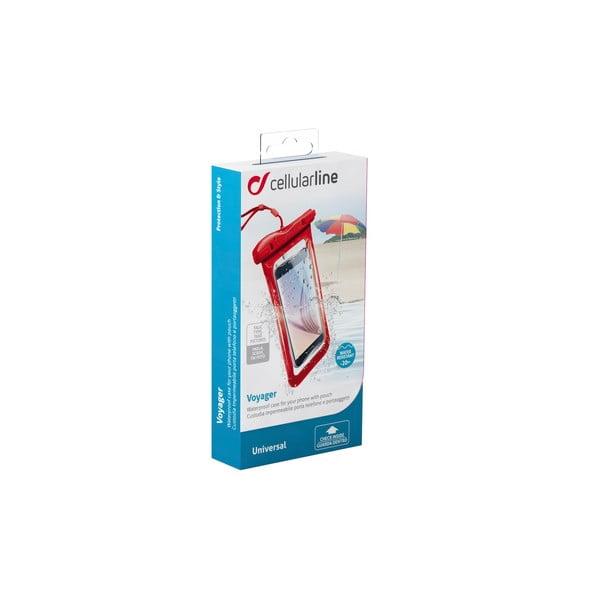 Voděodolné univerzální pouzdro Cellularline VOYAGER, červené