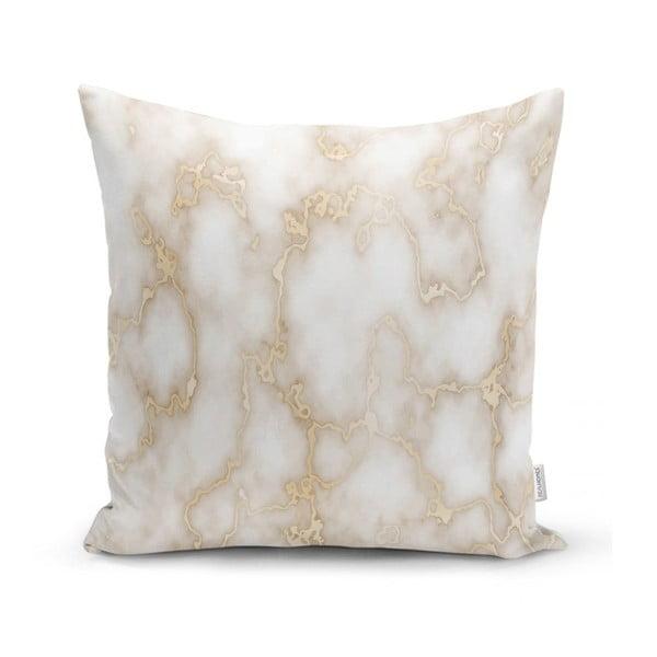 Față de pernă Minimalist Cushion Covers Golden Lines Marble, 45 x 45 cm