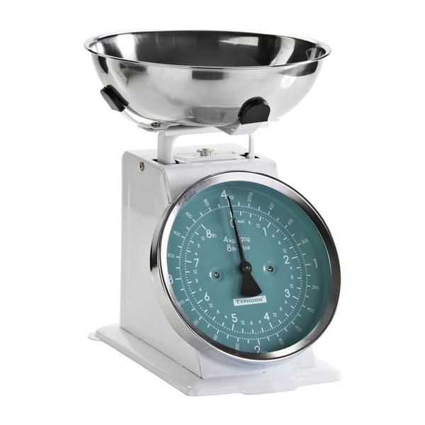 Kuchyňská váha White Retro, modrý ciferník