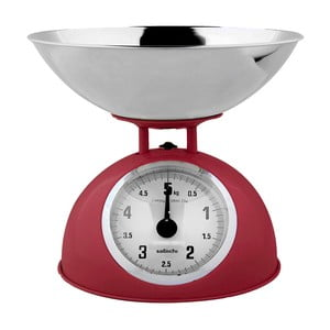 Kuchyňská váha, červená