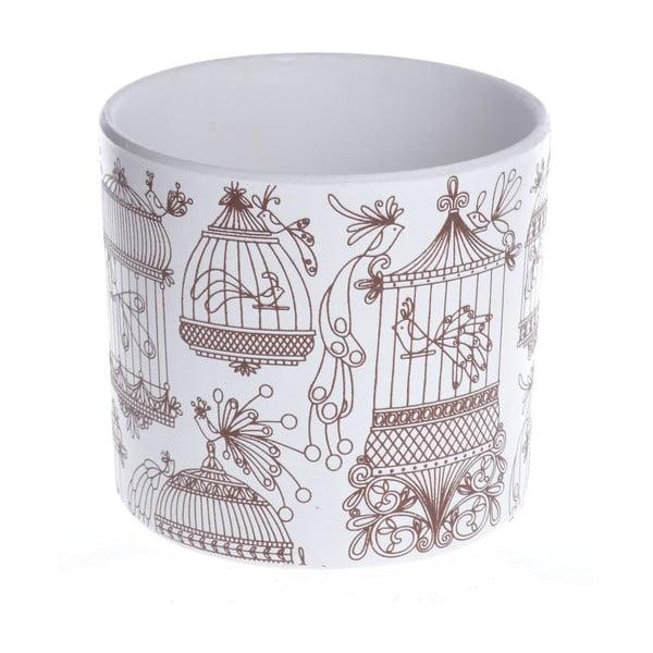 Keramický květináč Brown Cage