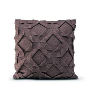 Hnědý vlněný povlak na polštář HF Living Felt Origami, 50 x 50 cm