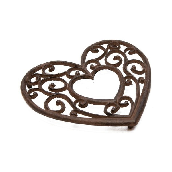 Metalowa podstawka pod garnek Antic Line Heart