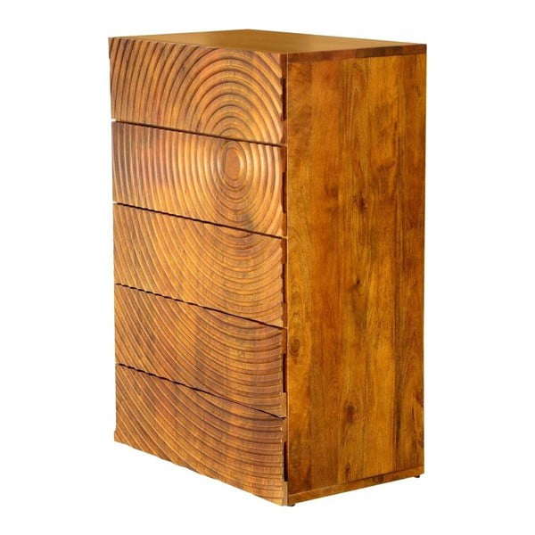 Komoda z mangového dřeva s 5 zásuvkami Støraa Savannah