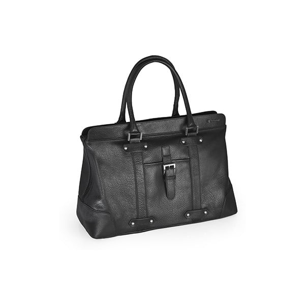 Kožená taška Valentini 827, černá