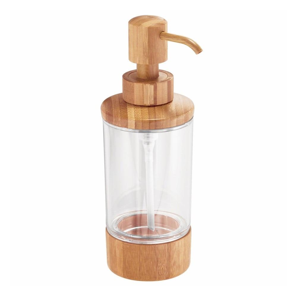 Dávkovač na mýdlo s bambusovými detaily iDesign Formbu, 295 ml