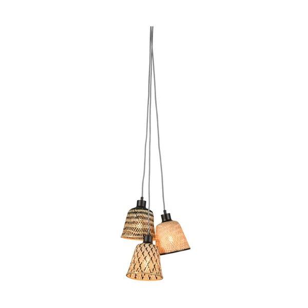 Závěsné bambusové svítidlo pro 3 žárovky Good&Mojo Kalimantan
