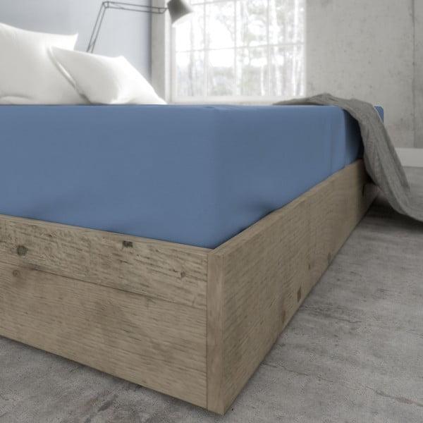 Modrá plachta zo 100% bavlny Ambianzz, 220 x 200 cm