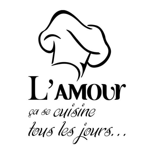 Samolepka Ambiance L'amour se cuisine tous les jours