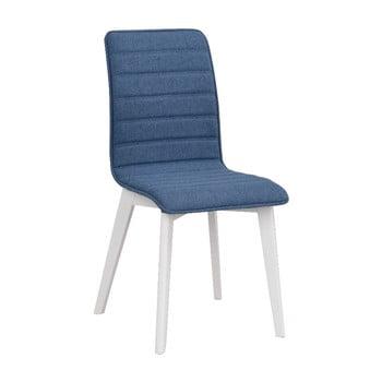 Scaun cu picioare albe Rowico Grace, albastru de la Rowico