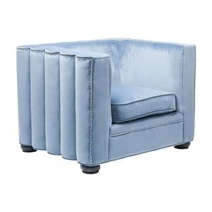 Modré křeslo Kare Design Wave