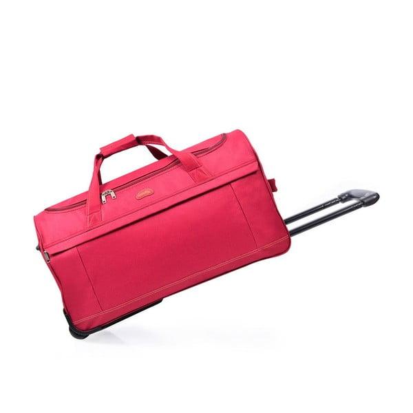 Růžová cestovní taška na kolečkách Hero,83l