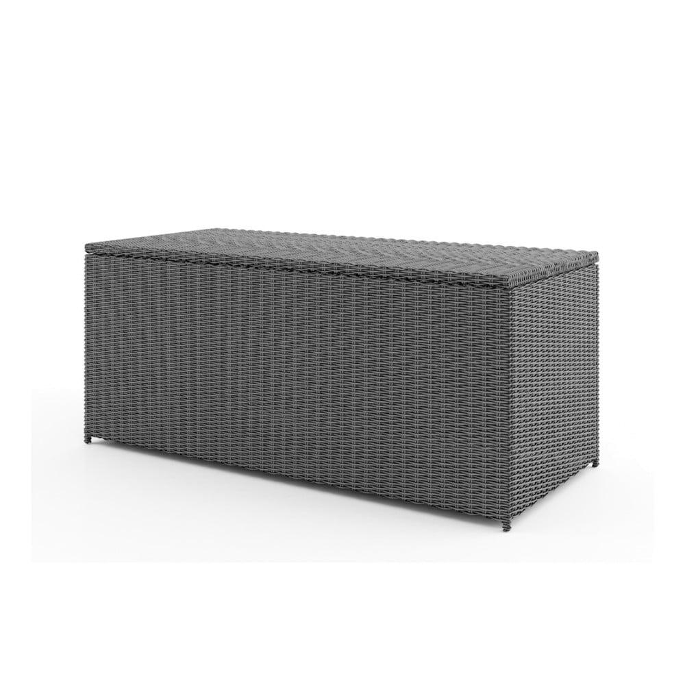 Větší šedý úložný box Oltre Scatola