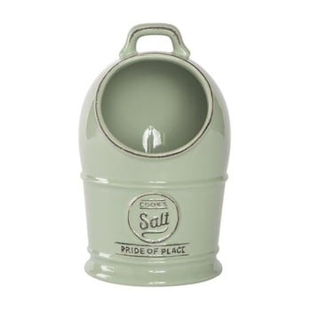 Recipient ceramic pentru sare T&G Woodware Pride of Place Old Green, verde de la T&G Woodware