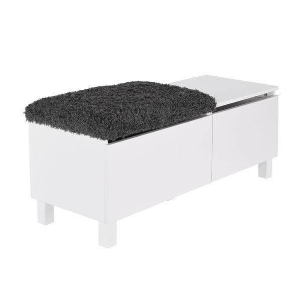 Lavice s úložným prostorem Sture 110 cm, bílá