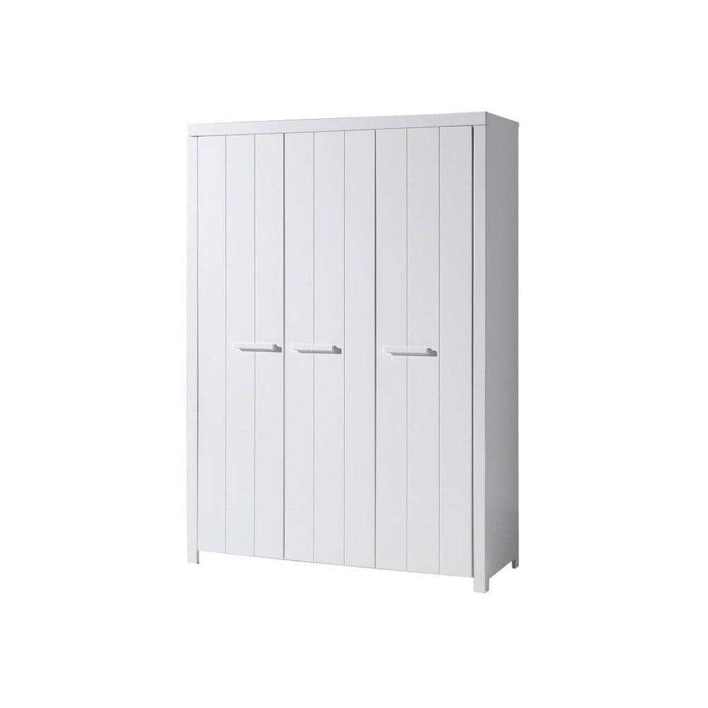 Bílá šatní skříň Vipack Erik, šířka 144 cm