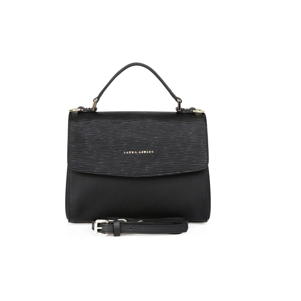 Černá kožená kabelka Laura Ashley Lisson