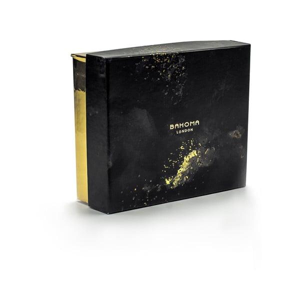 Set 4 lumânări parfumate și parfum de casă, în cutie de cadou, cu aromă de iasomie și vanilie Bahoma London