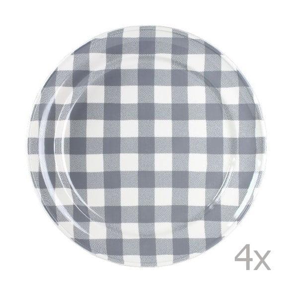 Sada 4 talířů Anne 32 cm, šedý
