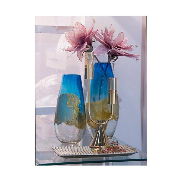 Ručně vyráběná křišťálová váza Santiago Pons Ocean, výška45cm