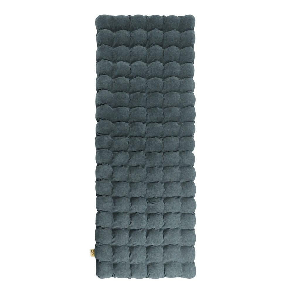 Šedomodrá relaxační masážní matrace Linda Vrňáková Bubbles, 65 x 200 cm