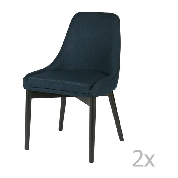 Sada 2 modrých židlí De Eekhoorn Koen