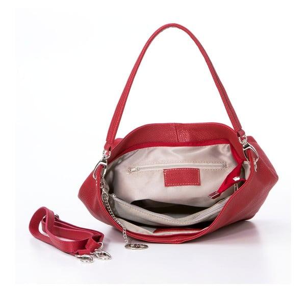 Kožená kabelka Marco, červená