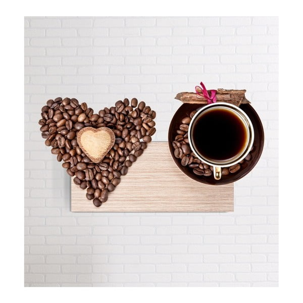 Heart 3D fali kép, 40 x 60 cm - Mosticx
