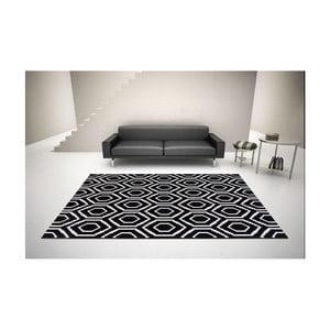 Černo-bílý koberec DECO CARPET Tripoli, 133 x 190 cm