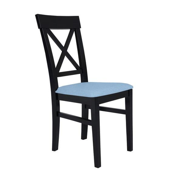 Černá židle se světle modrým sedákem BSL Concept Hinn