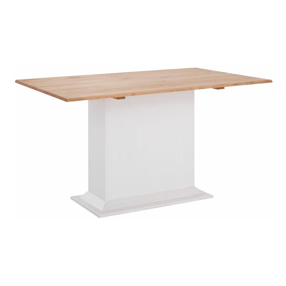 Bílý jídelní stůl z masivního borovicového dřeva Støraa Silas