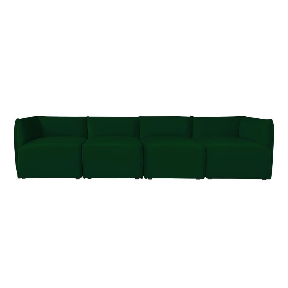 Zelená modulová čtyřmístná pohovka Norrsken Ebbe