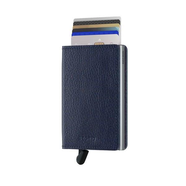 Modrá kožená peněženka s pouzdrem na karty Secrid Elegance