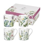 Sada 4 hrnků z porcelánu Churchill China Himalyan Flowers, 250 ml