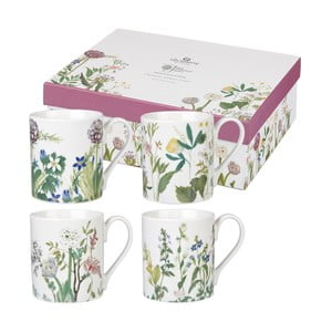 Set 4 căni Churchill China Himalyan Flowers, 250 ml