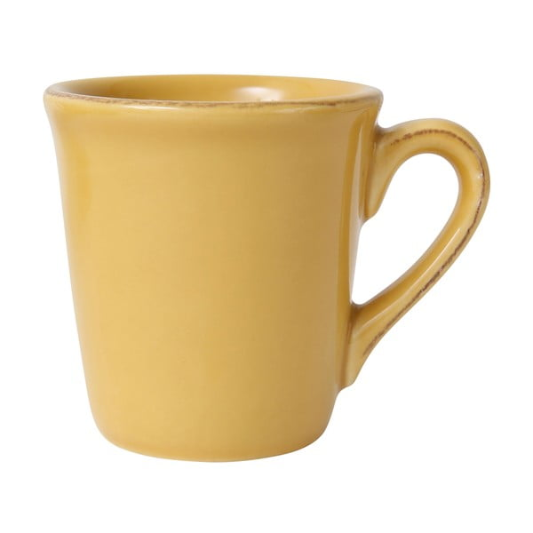 Žltý kameninový hrnček na espresso Côté Table Const, 100 ml