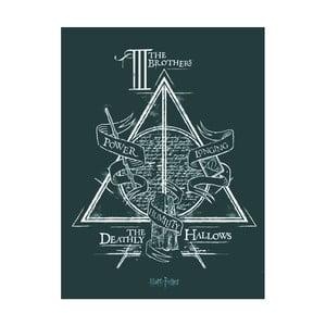 Obraz Pyramid International Harry Potter Deathly Hallows, 60 x 80 cm