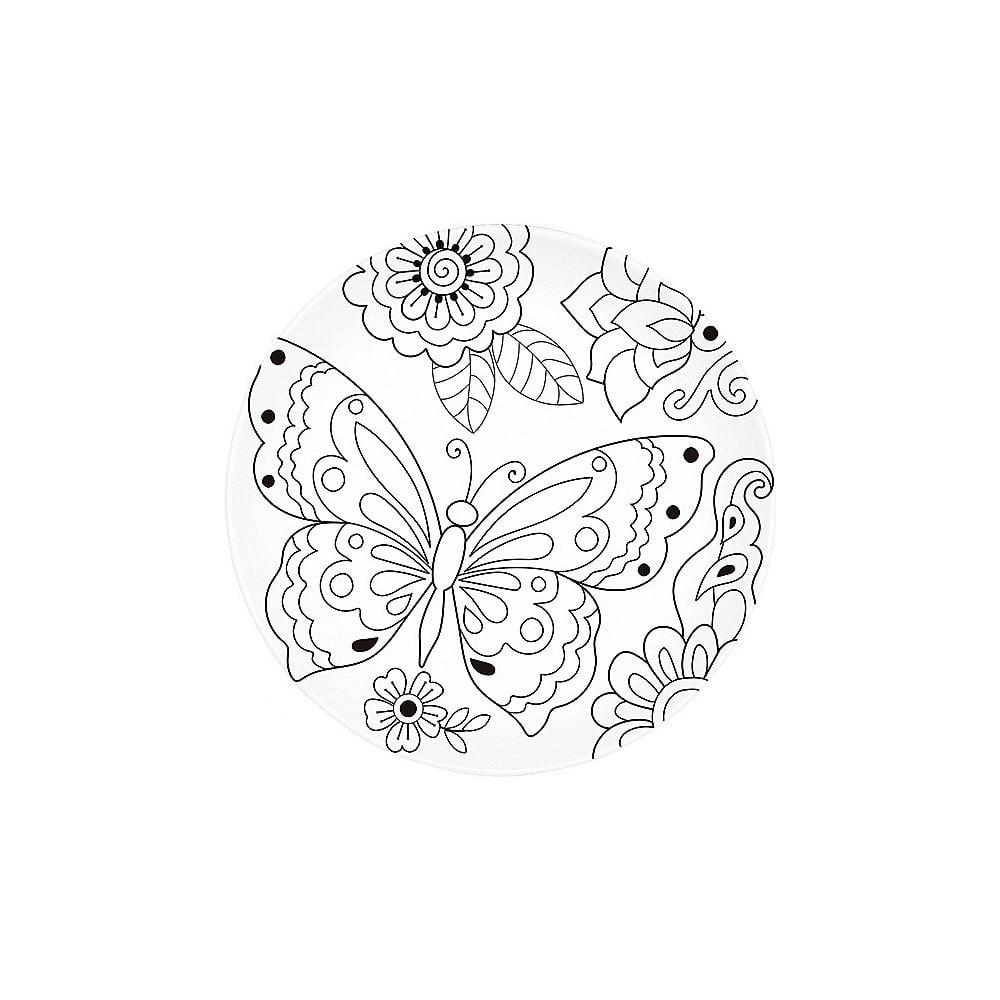 Porcelánový talíř k vymalování Santiago Pons Art & Color Butterfly