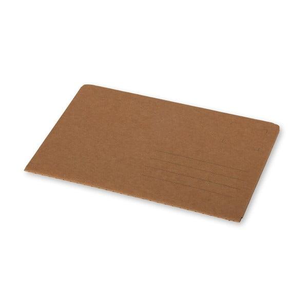 Hnědý zápisník v obálkové vazbě Moleskine Postal L