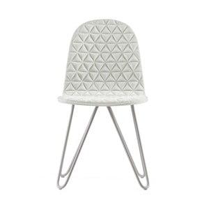 Krémová židle s kovovými nohami IkerMannequinXTriangle