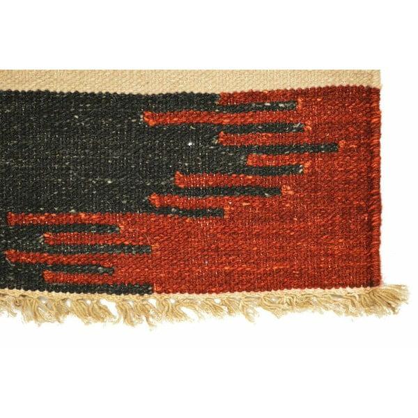 Vlněný koberec Kilim 121, 140x200 cm