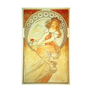 Obraz La Peintire od Alfonse Muchy, 30x50 cm