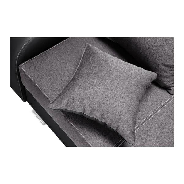 Černo-šedá sedačka Interieur De Famille Paris Destin, levý roh