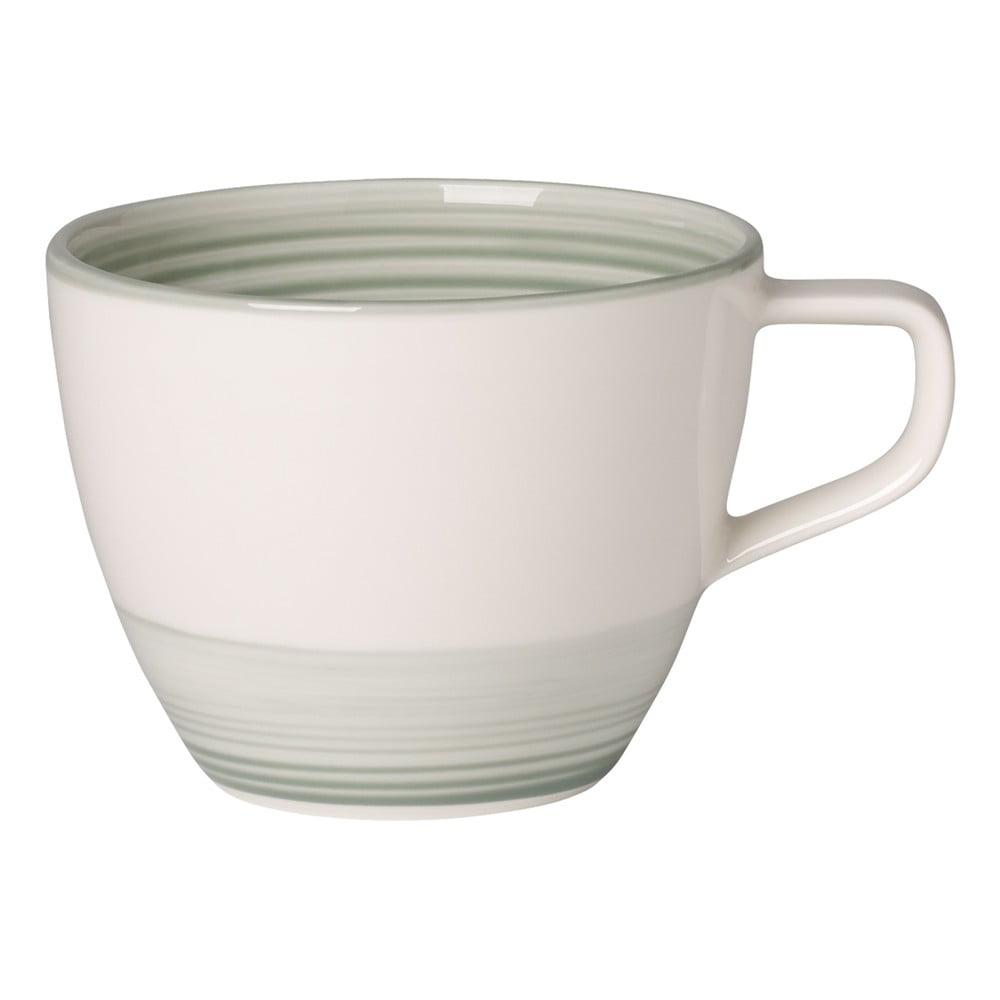 Bílo-zelený porcelánový hrnek Villeroy & Boch Artesano Nature, 0,25 l