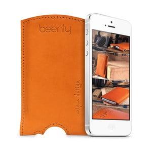 Kožený obal na iPhone 5/5s Cognac