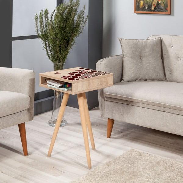 Odkládací stolek Zigon Red, 40 x 40 cm