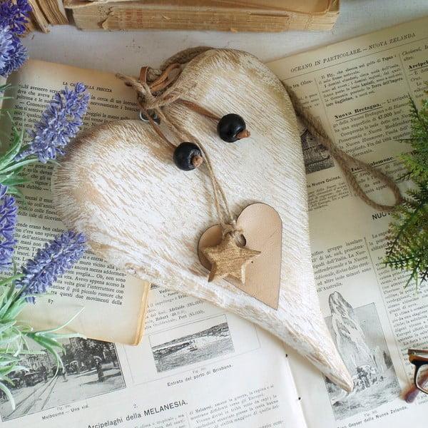 Dřevěné dekorativní srdce Orchidea Milano Heart