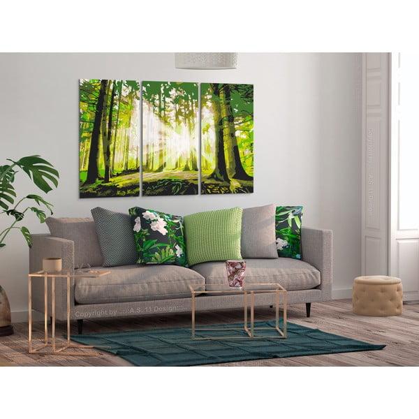 DIY set na tvorbu vlastního obrazu na plátně Artgeist Spring Forest, 120x80 cm